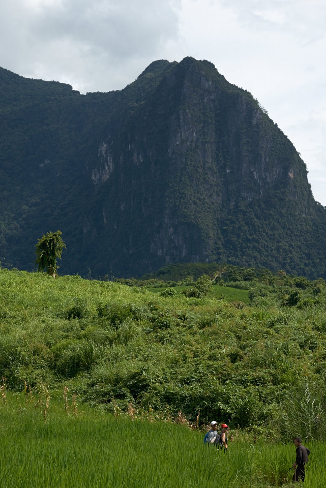 Steep mountains form the Laotian landscape