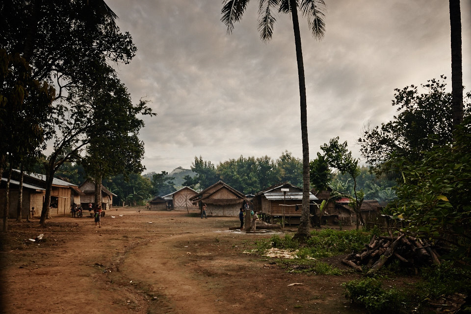 After several hours of trekking up and down the mountains we reached at our destination for the day and night; a Khmu village in the middle of...nowhere