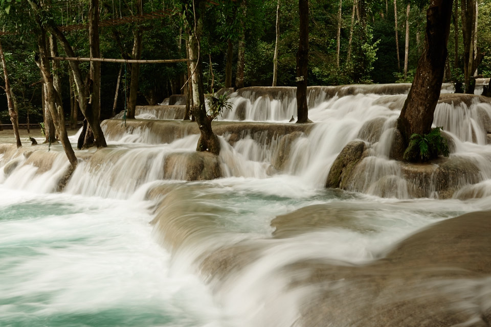 The Kuang Si waterfalls at Laos