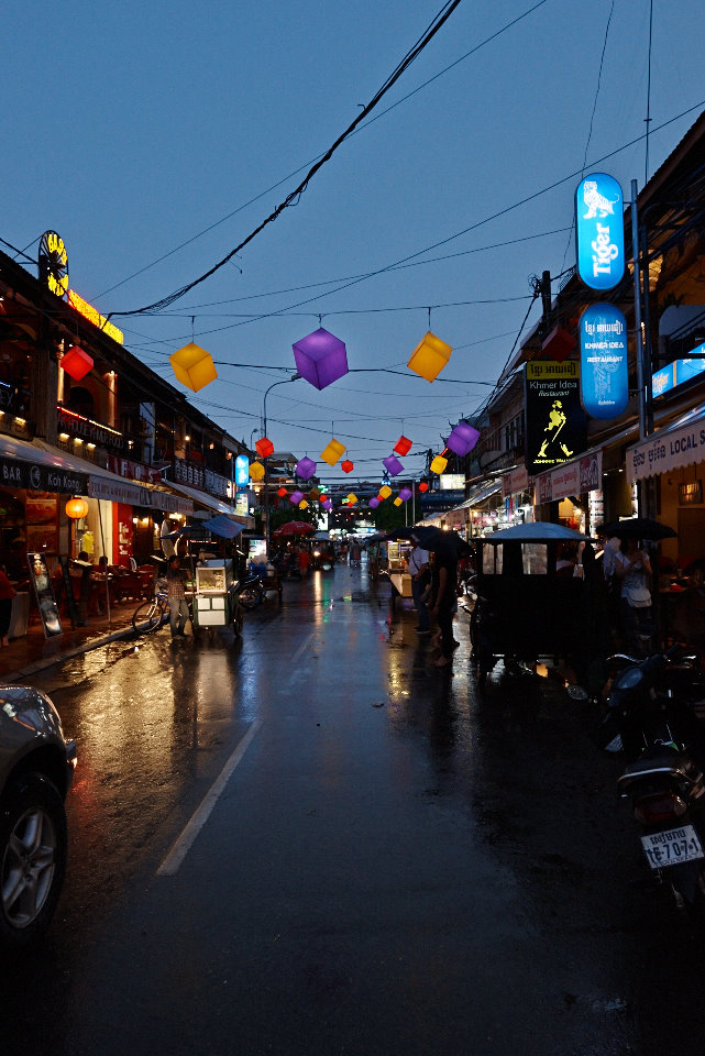 The Pub street in Siem Reap; a popular spot for tourists visiting the area
