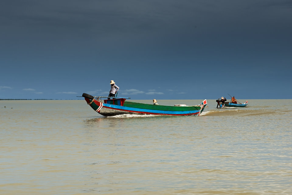...and the main source of income during the rainy season is fishing at the nearby lake